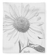 Sunflower  P Fleece Blanket