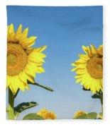 Sunflower Pair Fleece Blanket