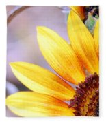 Sunflower Perspective Fleece Blanket