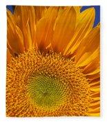 Sunflower Petals Fleece Blanket