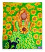 Sunflower Princess Fleece Blanket