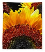 Sunflower Rise Fleece Blanket