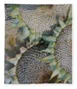 Sunflower Seed Heads Dried To Perfection Fleece Blanket