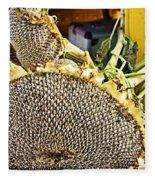 Sunflower Seeds Fleece Blanket