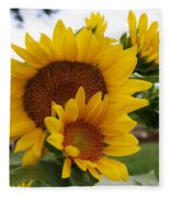 Sunflower Show Fleece Blanket