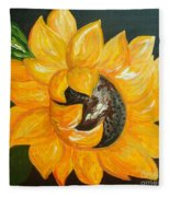 Sunflower Solo Fleece Blanket