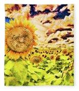Sunflower Storm Fleece Blanket