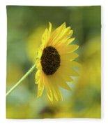 Sunflower Summer Fleece Blanket