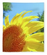 Sunflower Sunlit Art Print Canvas Sun Flowers Baslee Troutman Fleece Blanket
