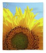 Sunflower Sunlit Sun Flowers Giclee Art Prints Baslee Troutman Fleece Blanket