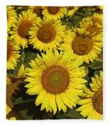 Sunflower Sunshine Fleece Blanket