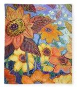 Sunflower Tropics Part 1 Fleece Blanket