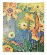 Sunflower Tropics Part 3 Fleece Blanket