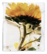 Sunflower Watercolor Fleece Blanket