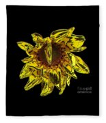 Sunflower With Stone Effect Fleece Blanket