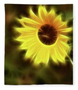 Sunflowers-4986-fractal Fleece Blanket