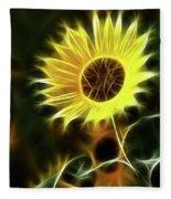 Sunflowers-5200-fractal Fleece Blanket