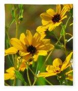 Sunflowers Along The Trail Fleece Blanket