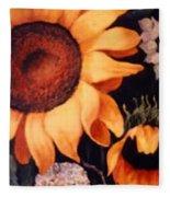 Sunflowers And More Sunflowers Fleece Blanket