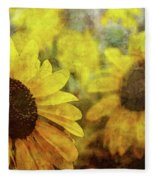 Sunflowers And Water Spots 2773 Idp_2 Fleece Blanket
