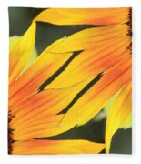 Sunflowers Corners Fleece Blanket