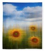 Sunflowers Dreamscape Fleece Blanket