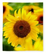Sunflowers I Fleece Blanket