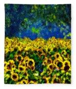 Sunflowers No2 Fleece Blanket