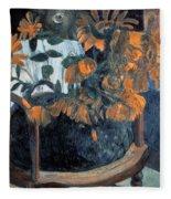 Sunflowers, 1901 By Paul Gauguin  Fleece Blanket