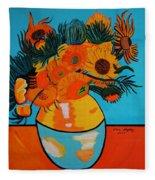 Sunflowers Van Gogh Fleece Blanket