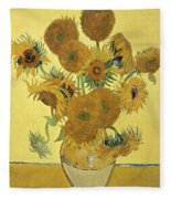 Sunflowers, 1888  Fleece Blanket