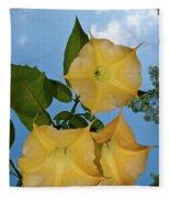 Sunglow Angel Trumpet Fleece Blanket