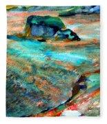 Sunion Greece Fleece Blanket