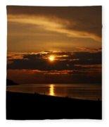 Sunken Sunset Fleece Blanket