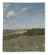 Sunlight And Shadow, Shinnecock Hills By William Merritt Chase Fleece Blanket