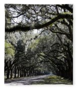 Sunlight And Shadows On Live Oaks Fleece Blanket