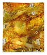 Sunlight Dancing In The Aspen Forest Fleece Blanket