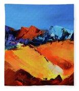 Sunlight In The Valley Fleece Blanket