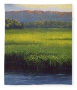 Sunlight On The Marsh Fleece Blanket