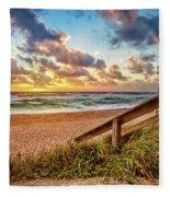 Sunlight On The Sand Fleece Blanket