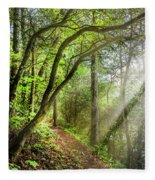Sunlight On The Trail Fleece Blanket