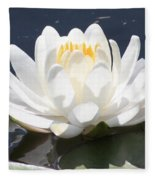 Sunlight On Water Lily Fleece Blanket