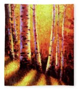 Sunlight Through The Aspens Fleece Blanket