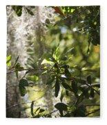 Sunlight Through The Oak Fleece Blanket