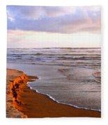 Sunlit Cannon Beach Fleece Blanket