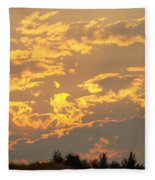 Sunlit Clouds Sunset Art Prints Gifts Orange Yellow Sunsets Baslee Troutman Fleece Blanket