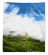Sunlit Hillside Fleece Blanket