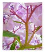 Sunlit Hydrangea Flowers Garden Art Prints Baslee Troutman Fleece Blanket