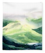 Sunlit Mountain Fleece Blanket
