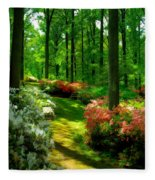 Sunlit Path Fleece Blanket